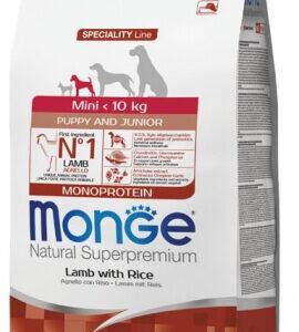 """מונג' מיני גורים כבש ואורז לכלבים 2.5 ק""""ג אריזה מקורית"""