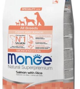 """מונג' גורים סלמון לכל הגזעים כלבים 2.5 ק""""ג אריזה מקורית"""