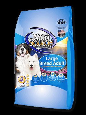 """נוטריסורס לכלבים בוגרים מגזע גדול על בסיס עוף ואורז 13.6 ק""""ג אריזה קדמית ישנה"""