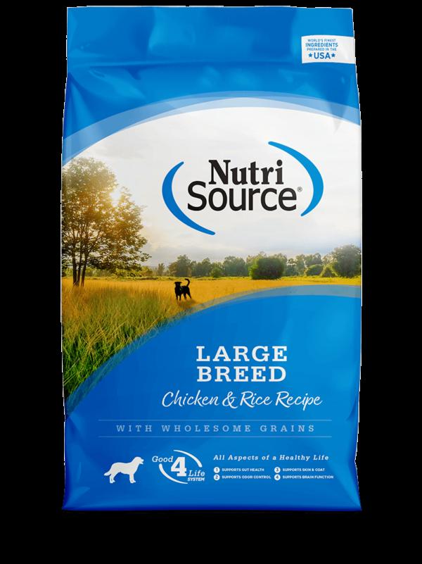 """נוטריסורס לכלבים בוגרים מגזע גדול על בסיס עוף ואורז 13.6 ק""""ג אריזה חדשה"""